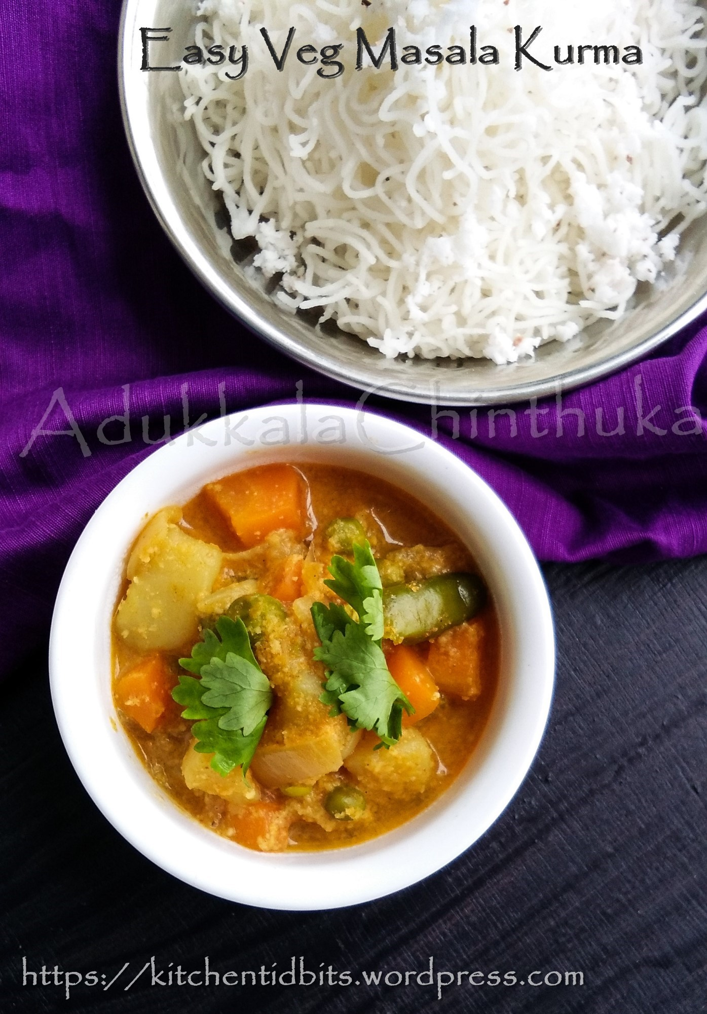 Easy Vegetable Masala Kurma