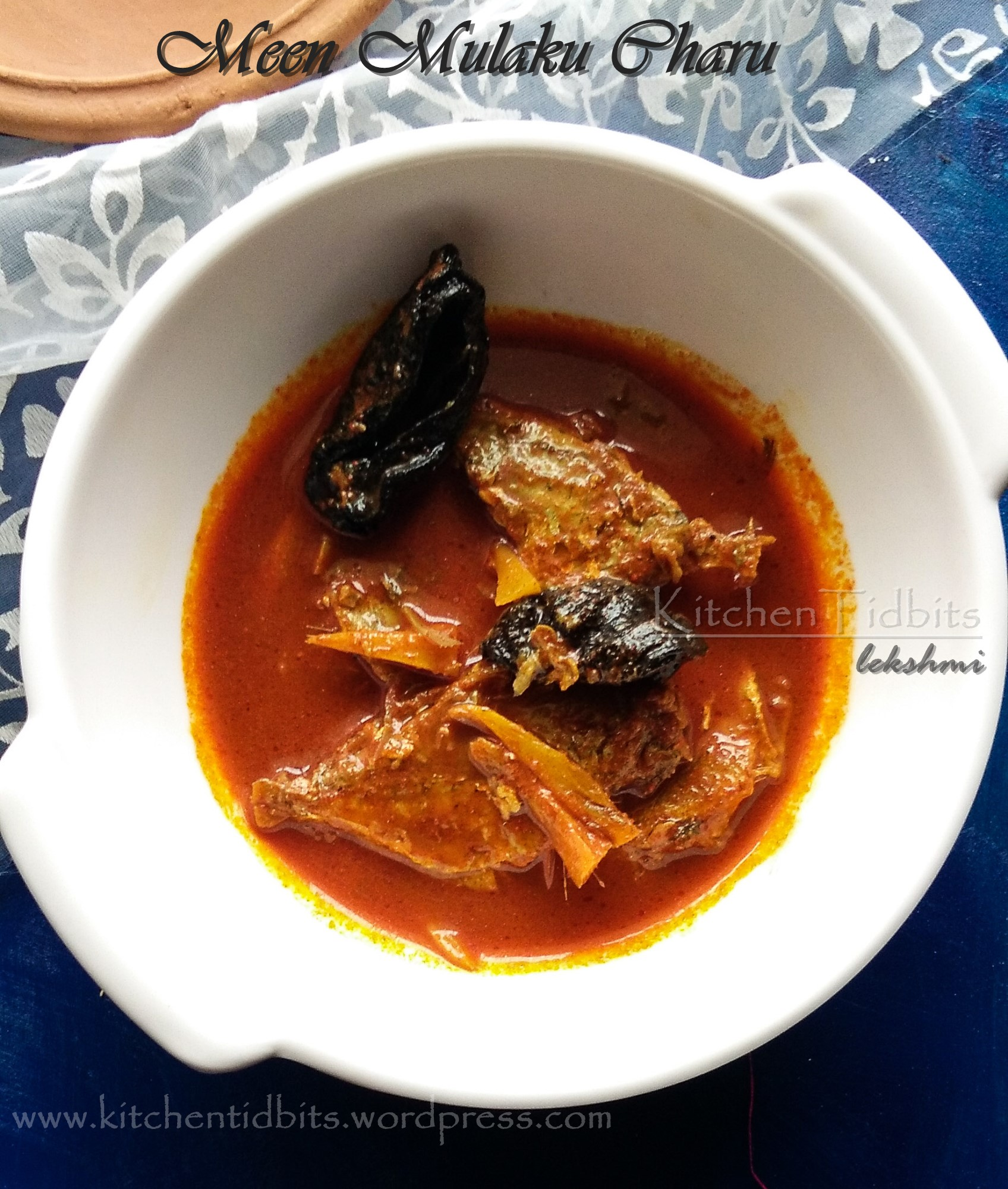 Meen Mulaku Charu/Fish in spicy gravy