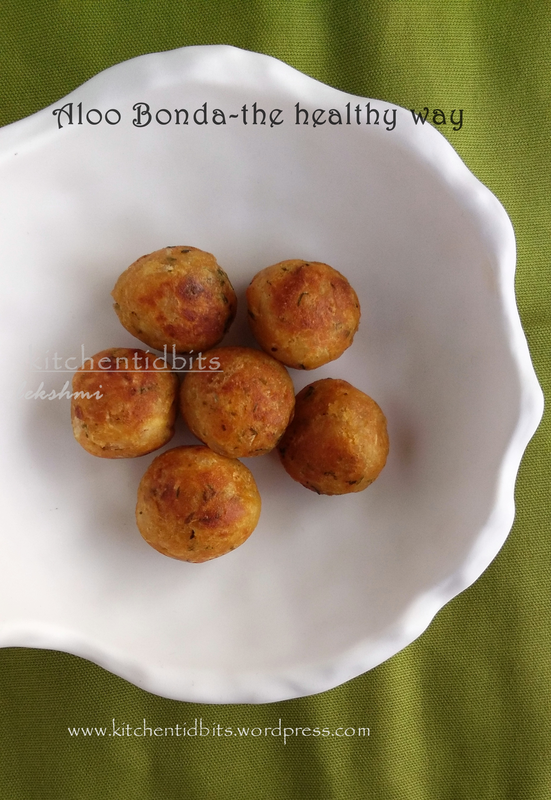 Aloo Bonda/Potato Fritters -Not Deep fried!