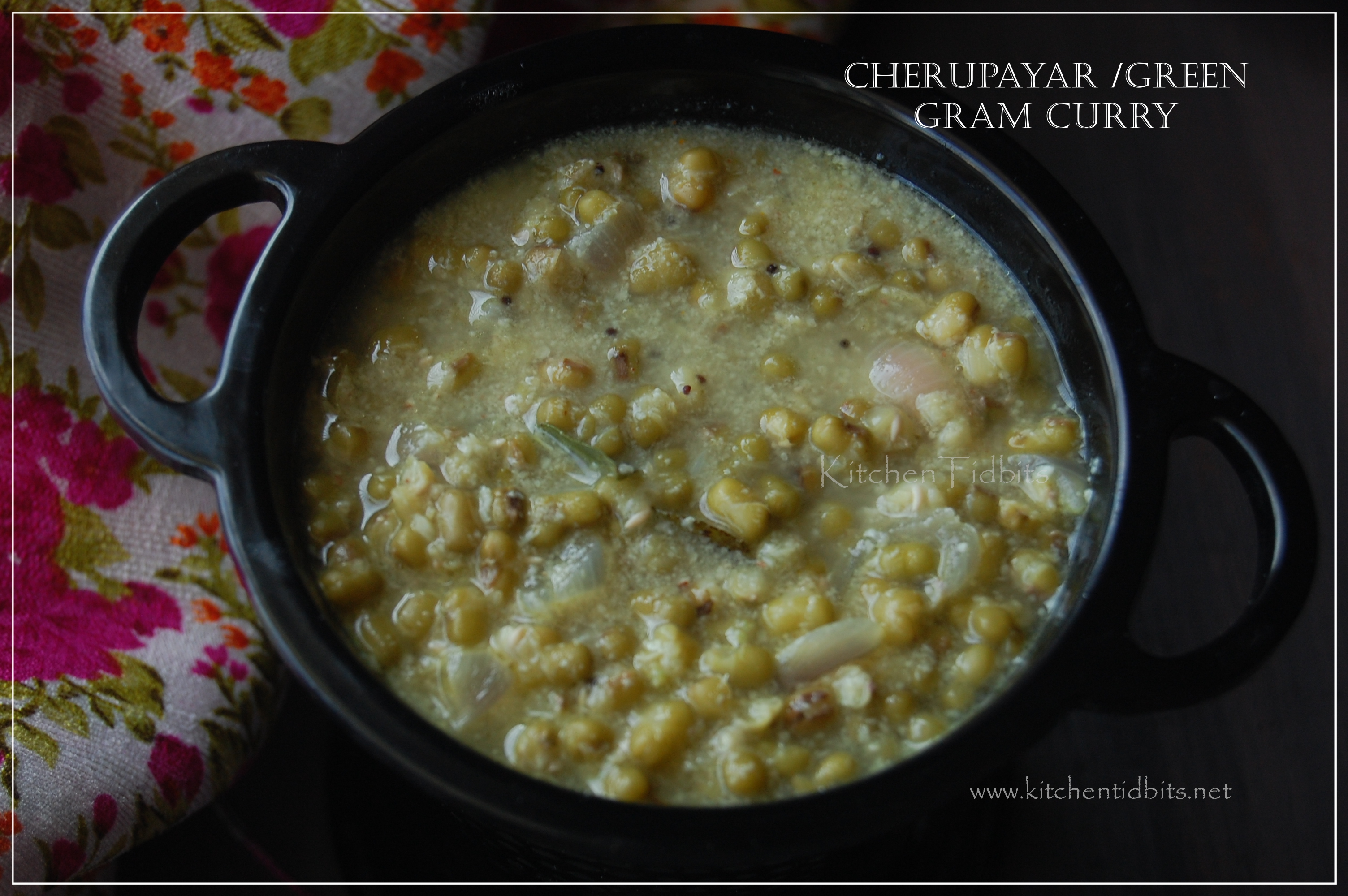 Cherupayar /green gram curry