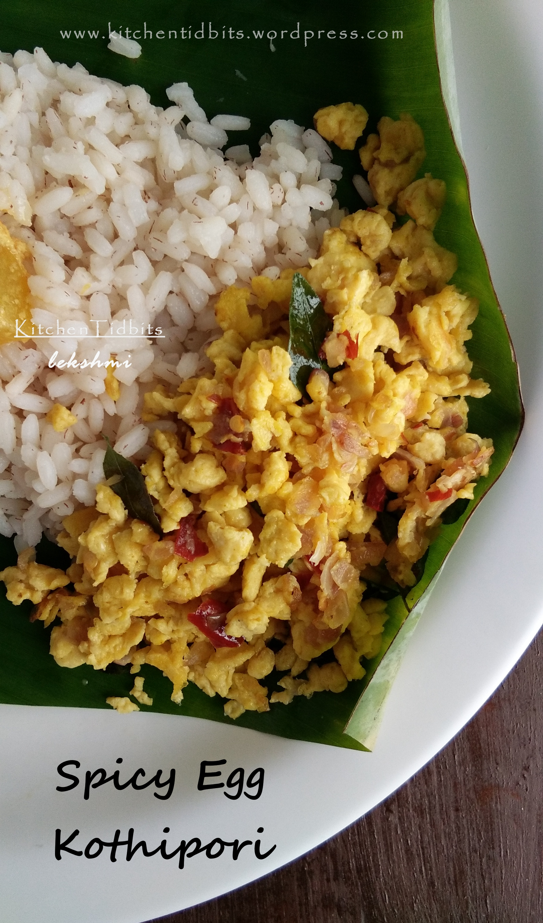 Spicy Egg Kothipori/ Spicy Egg Scramble