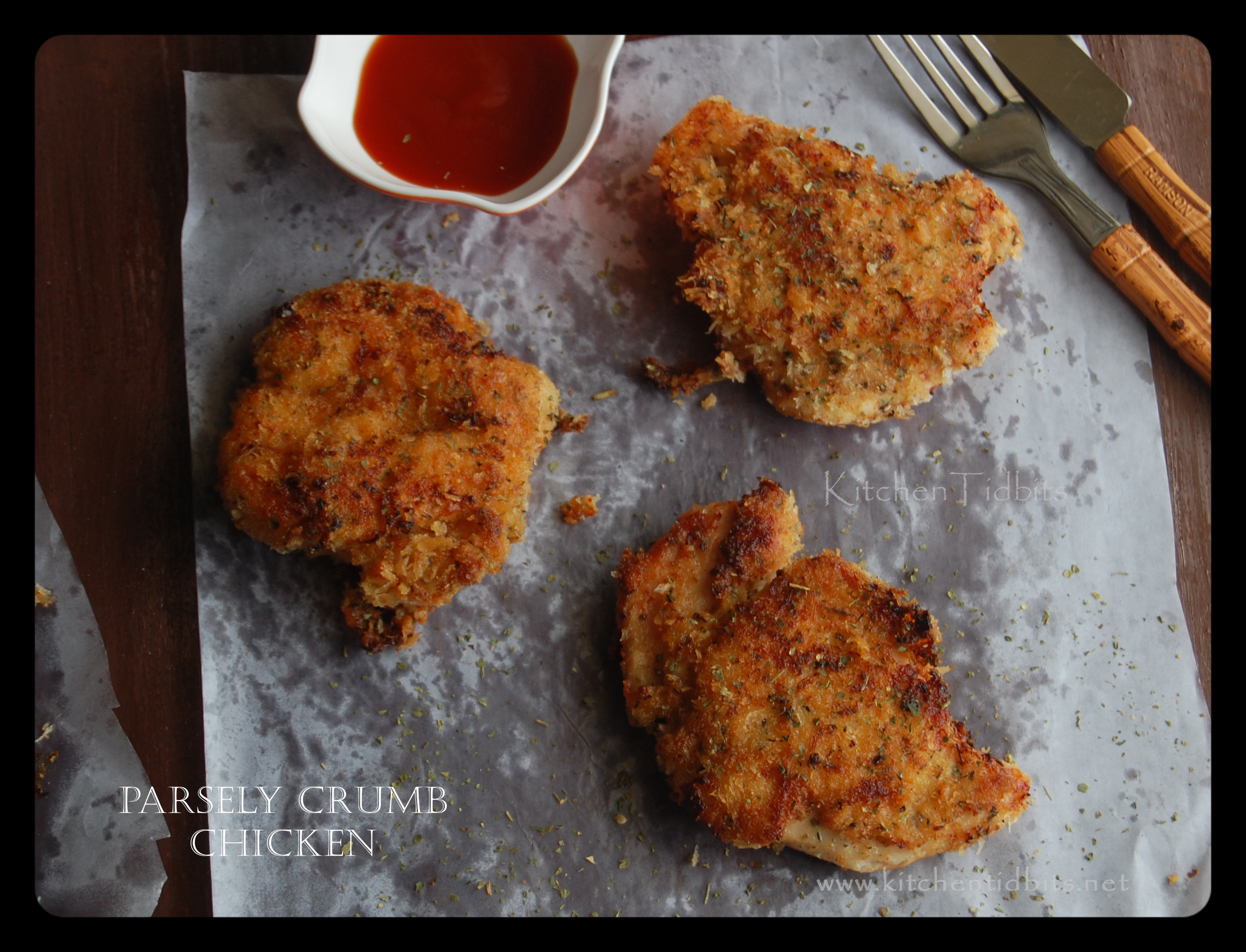 Parsely crumb chicken